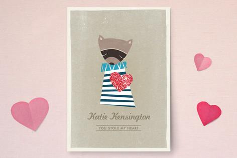 Raccoon Valentine's Day Cards
