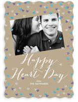 Sparkling Heart Confetti Valentine's Day Cards