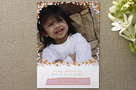 confetti hearts Valentine's Day Cards
