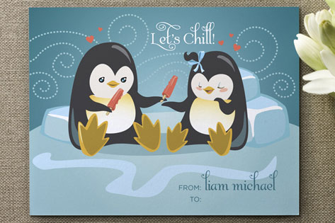Let's Chill Valentine's Day Cards