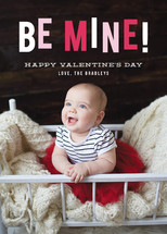 Hanging Be Mine Valentine's Day Cards