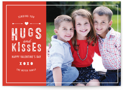 Hugs And Kisses For You Valentine's Day Cards