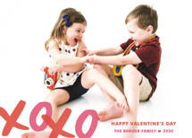 XOXO Bunting Banners Valentine's Day Petite Cards