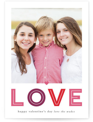 Love Large Valentine's Day Postcards