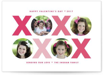 X & O Valentine's Day Postcards
