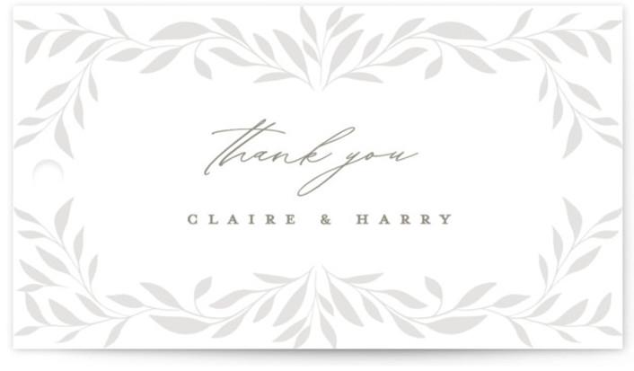 Clarity Wedding favor tags
