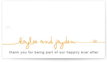 The Happy Couple Wedding Favor Tags