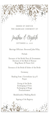 The Wedding Bouquet Foil-Pressed Wedding Programs