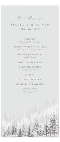 Wonderland Foil-Pressed Wedding Programs