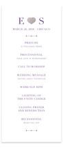 Arrow Frame Foil-Pressed Wedding Programs