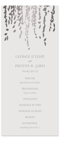 Cascade Foil-Pressed Wedding Programs