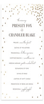 Thrilling Foil-Pressed Wedding Programs