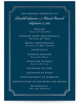 Classy Type Foil-Pressed Wedding Programs