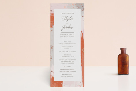 The Artist's Wedding Foil-Pressed Wedding Programs