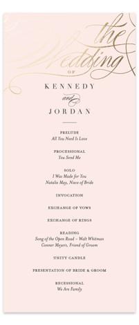 Filigree Foil-Pressed Wedding Programs