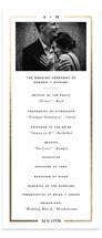 Classically Foil-Pressed Wedding Programs
