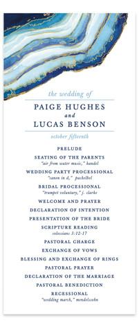 Gilt Agate Wedding Programs