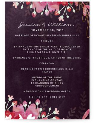 Enchanting Plum Wedding Programs