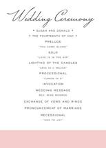 Romantic Frame Wedding Programs