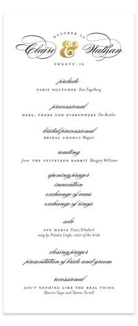 Dapper Amper Wedding Programs