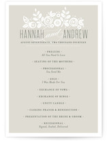 White Shadows Unique Wedding Programs