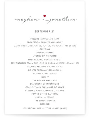 Love Connection Wedding Programs