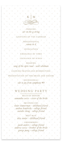 A Glamorous Affair Wedding Programs