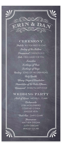 A Chalkboard Marriage Wedding Programs