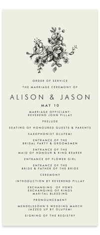 Elegance Illustrated Wedding Programs