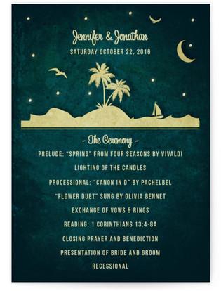 Love Island Wedding Programs