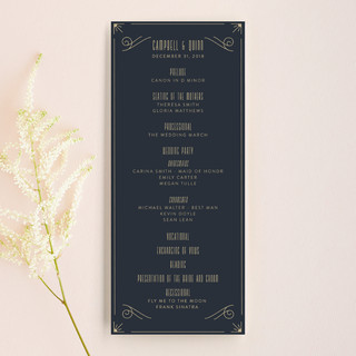 Elegantly Modern Wedding Programs
