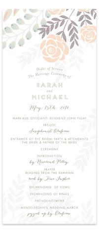 Flower Burst Wedding Programs