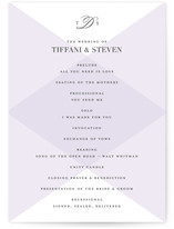 Overlapping Triangles Unique Wedding Programs