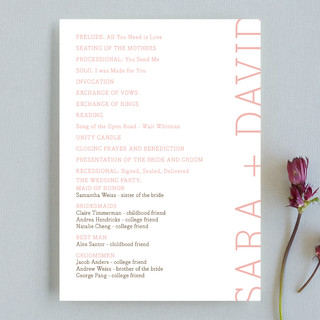 Side type Unique Wedding Programs