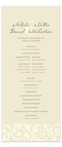 Elegant Flourish Wedding Programs