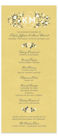 Cheerful Bloom Wedding Programs