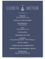 Down by the Sea Unique Wedding Programs