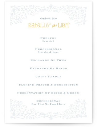 Once Upon Wedding Programs