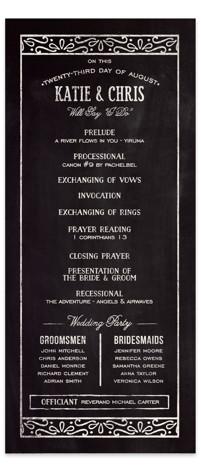 Slated Forever Wedding Programs