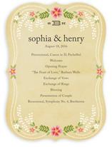 Wisteria Unique Wedding Programs