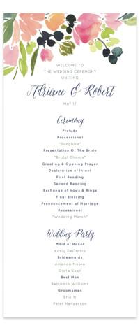 Watercolor Wreath Wedding Programs