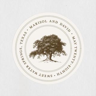 Modern Crest Wedding Favor Stickers
