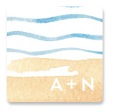 Painted Sea Wedding Favor Stickers
