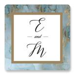 Something Blue Wedding Favor Stickers