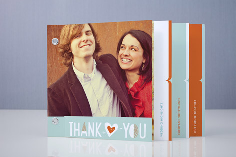 just married Wedding Thank You Minibook™ Cards