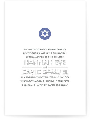 Modern Star Print-It-Yourself Wedding Invitations