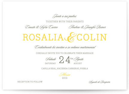 Traditional Tequila Print-It-Yourself Wedding Invitations
