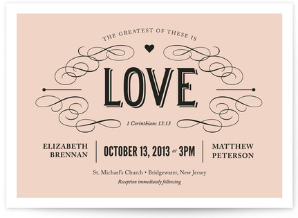 Greatest of These Print-It-Yourself Wedding Invitations