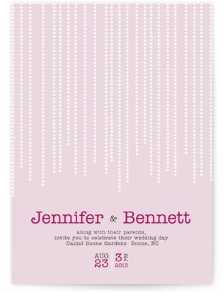 Star Dust Print-It-Yourself Wedding Invitations