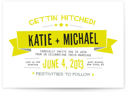 Afterparty Print-It-Yourself Wedding Invitations